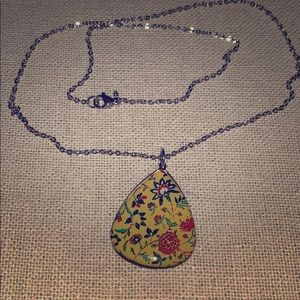 Yellow Floral Persianite Necklace